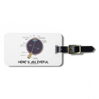 Here's An Eyeful (Eye Anatomy Humor) Luggage Tags
