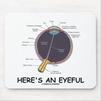 Here's An Eyeful (Eye Anatomy Humor) Mousepads