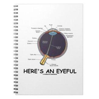 Here's An Eyeful (Eye Anatomy Humor) Spiral Note Books