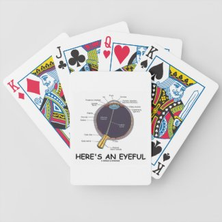 Here's An Eyeful (Eye Anatomy Humor) Playing Cards