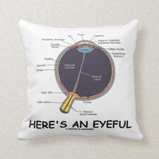 Here's An Eyeful (Eye Anatomy Humor) Throw Pillow