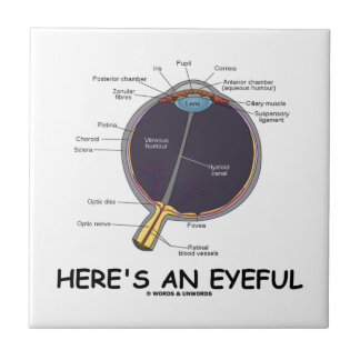 Here's An Eyeful (Eye Anatomy Humor) Small Square Tile