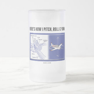 Here's How I Pitch, Roll & Yaw (Inner Ear Anatomy) Frosted Glass Beer Mug