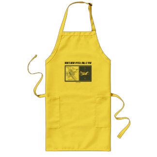 Here's How I Pitch, Roll & Yaw (Inner Ear Anatomy) Long Apron