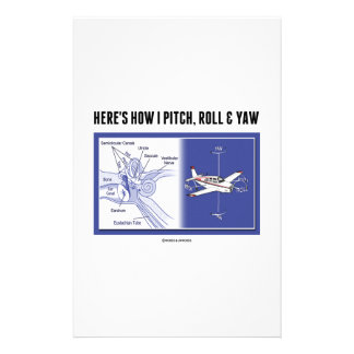 Here's How I Pitch, Roll & Yaw (Inner Ear Anatomy) Stationery