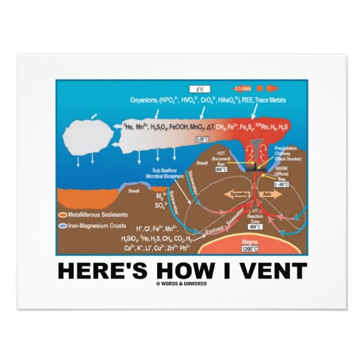 Here's How I Vent (Deep Sea Vent Chemistry Humor) Personalized Invitation