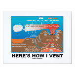Here's How I Vent (Deep Sea Vent Chemistry Humor) 4.25x5.5 Paper Invitation Card
