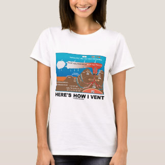 Here's How I Vent (Deep Sea Vent Chemistry Humor) T-Shirt