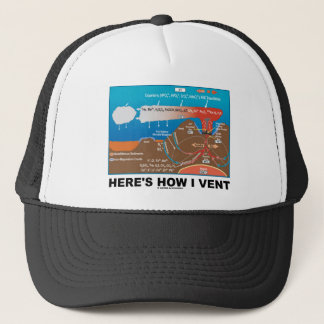 Here's How I Vent (Deep Sea Vent Chemistry Humor) Trucker Hat