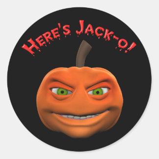 Here's Jack-O Pumpkin Sticker