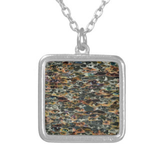 Here's Lookin' at Ya! Square Pendant Necklace