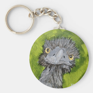 Here's lookin at you , 5x5 Acrylic on Canvas, @Kat Basic Round Button Keychain