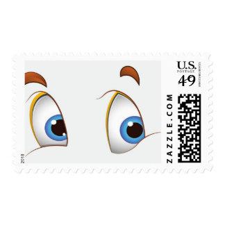 Here's looking at You Kid Blue Eyes Postage Stamp