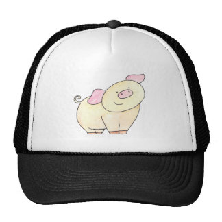 Here's looking at you Pig cutout by Serena Bowman Trucker Hat