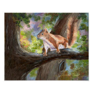 Here's Looking At You Squirrel  Poster