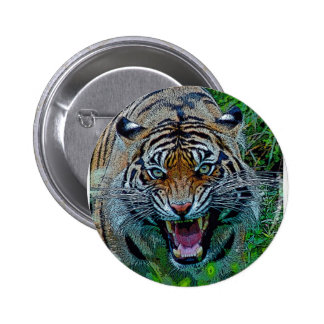 Here's Looking At You Tiger Pinback Button