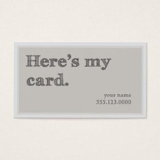 """""""Here's My Card"""" Networking Groupon Business Card"""
