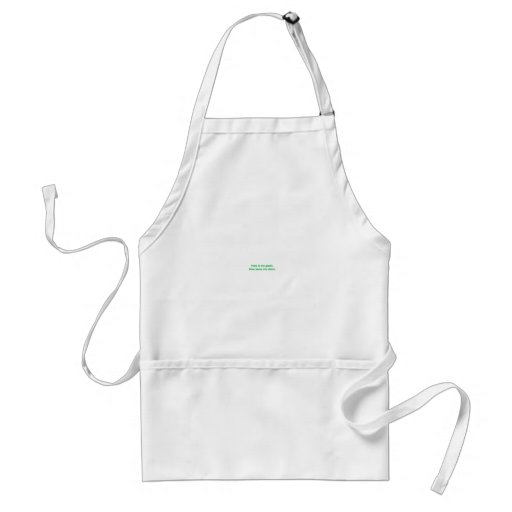 Here's my green. Funny St. Patrick's Day tees Adult Apron