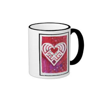 Here's My Heart Mixed Media Valentine Coffee Mugs