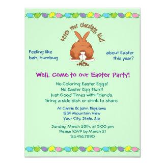 Heres que su chocolate Pascua invita Invitación 10,8 X 13,9 Cm
