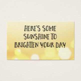 Here's Some Sunshine Acts of Kindness Card