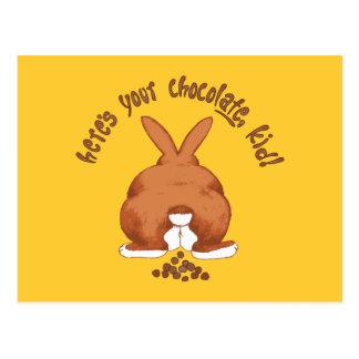 Heres su postal del chocolate