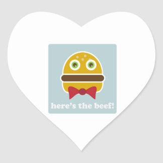Here's The Beef! Heart Sticker