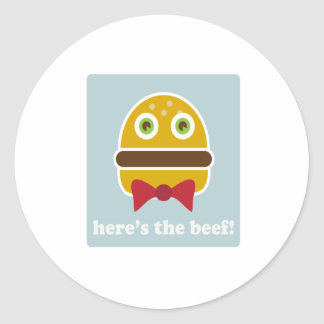 Here's The Beef! Sticker