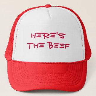 here's the beef trucker hat