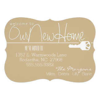 Here's the Key to Our New Home Invitations