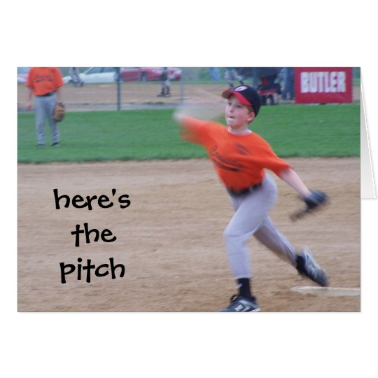 """HERE'S THE PITCH"" BE MINE - VALENTINE CARD"