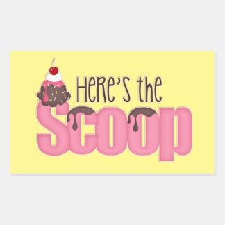 Here's The Scoop Ice cream sticker