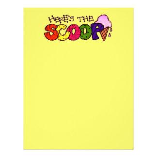 Here's the Scoop Letterhead
