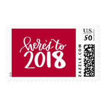 Here's to 2018 Stamp - Red
