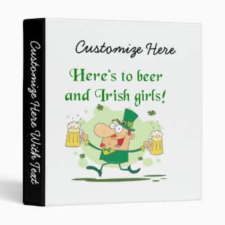 Here's to Beer and Irish Girls T-shirts and Gifts Vinyl Binders