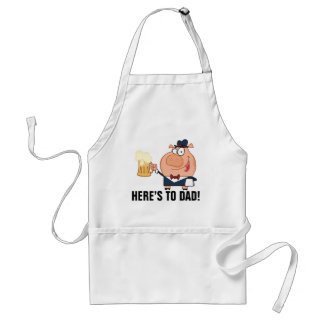 Here's to Dad Father's Day Toast Adult Apron
