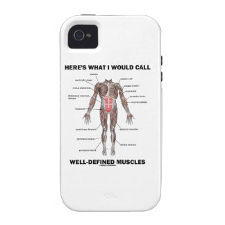 Here's What I Would Call Well-Defined Muscles iPhone 4 Cases