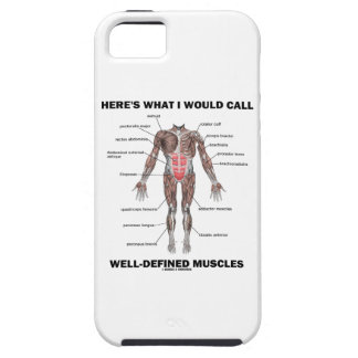 Here's What I Would Call Well-Defined Muscles iPhone 5 Covers