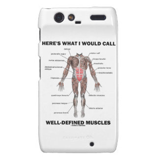 Here's What I Would Call Well-Defined Muscles Motorola Droid RAZR Case