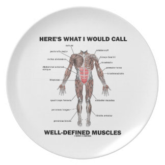 Here's What I Would Call Well-Defined Muscles Dinner Plates