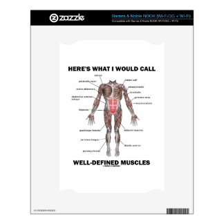 Here's What I Would Call Well-Defined Muscles NOOK Decal