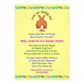 Heres Your Chocolate Easter Invitations
