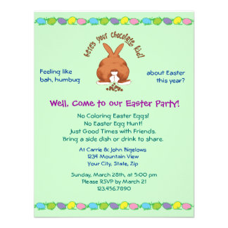 Heres Your Chocolate Easter Invites
