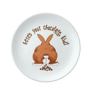 Here's Your Chocolate Rabbit Pooping Plate