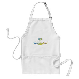 heretic defined adult apron