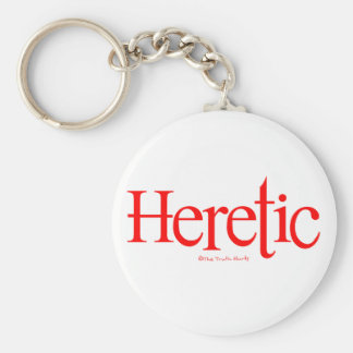 Heretic Basic Round Button Keychain
