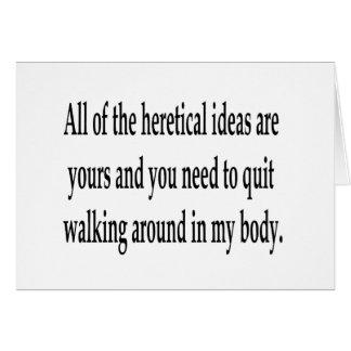 Heretical Ideas Card