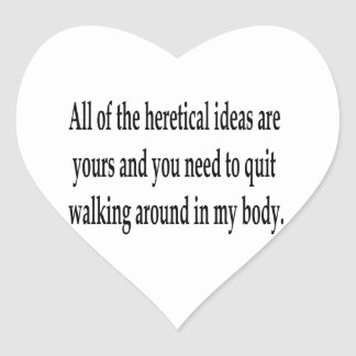 Heretical Ideas Heart Stickers