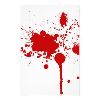Herida de bala de la salpicadura de la sangre que  personalized stationery