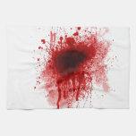 herida sangrienta de la escopeta toalla de cocina